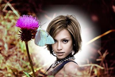 Thistle και πεταλούδα