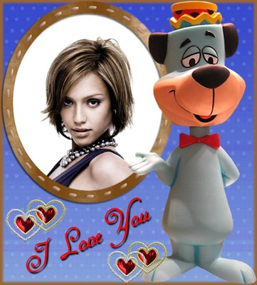 Child frame Dog I love you