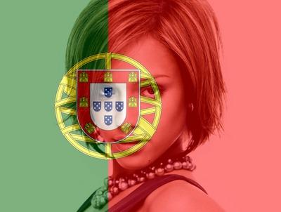 Portugalin lippu Portugali muokattavissa