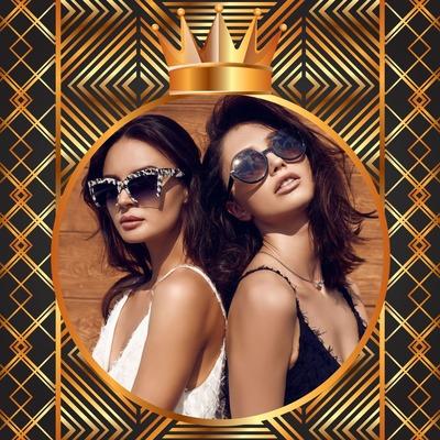 金色背景与王冠