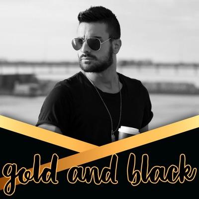Envelope preto e dourado