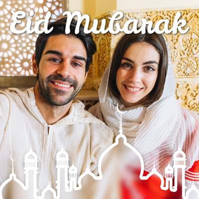 Koniec ramadánu Eid Mubarak