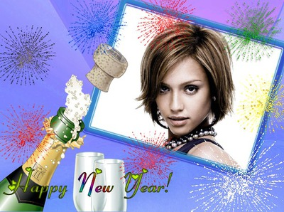 Happy New Year Feliz ano novo Champanhe