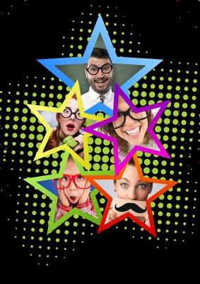 5 estrellas coloradas