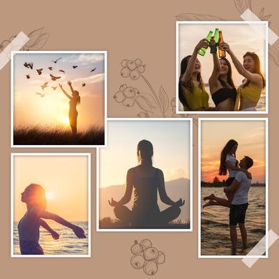 5 billeder collage