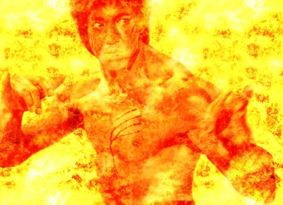efecto de fuego con llamas del embutido