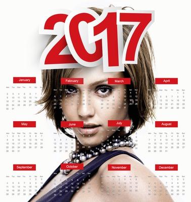 Calendrier 2017 en Anglais