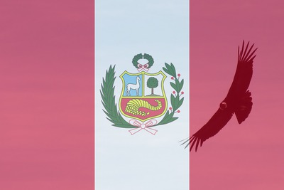 Bandera del peru peruano