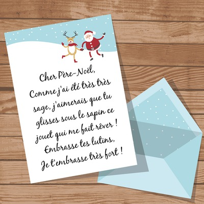 Customizable letter for Santa Claus