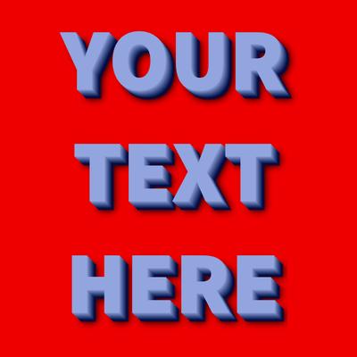 Tekst z różnymi stylami na panelu