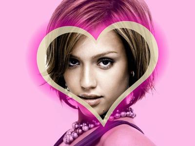 Corazón fondo rosa