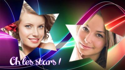 Mångfärgad kurvor Stjärnor 2 bilder