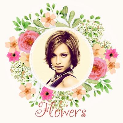 Virágos kerek