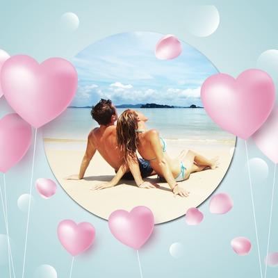 Ballons en forme de coeurs roses