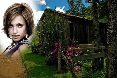 Pejzaž Mala drvena kućica