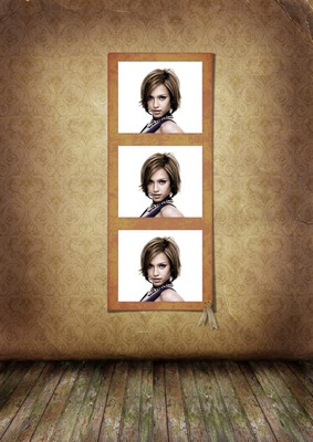 3 photos sur cadre en bois