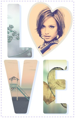 L♥VE Collage romantique