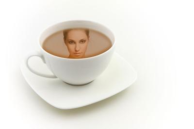 Reflejo taza de té
