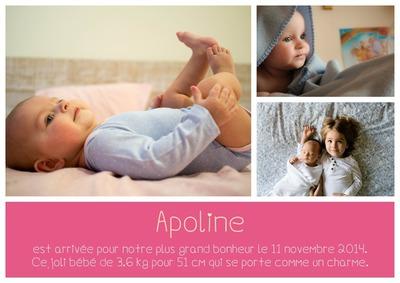 Collage fødselsmeddelelse