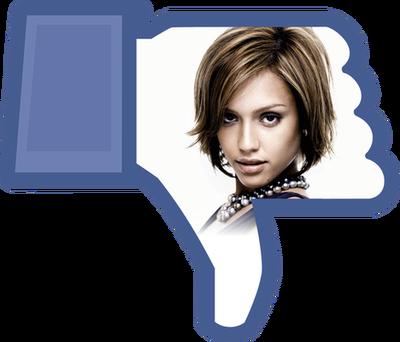 Ne volim Facebook gumb prilagodljiv transparentan PNG