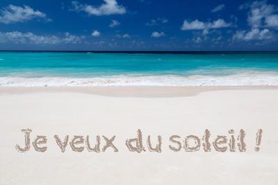 Sand beach with text