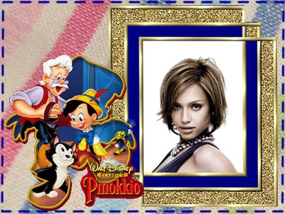 Child frame Pinocchio Disney