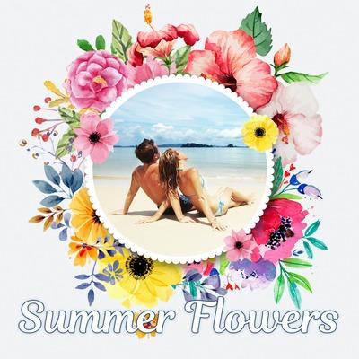 Sommer blomstret rundt