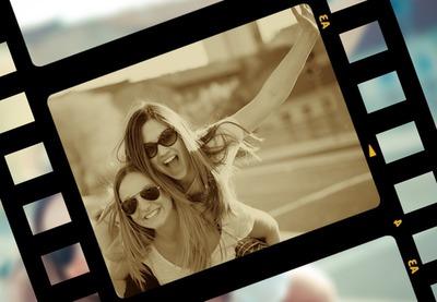 Film remsan med sepiaeffekt
