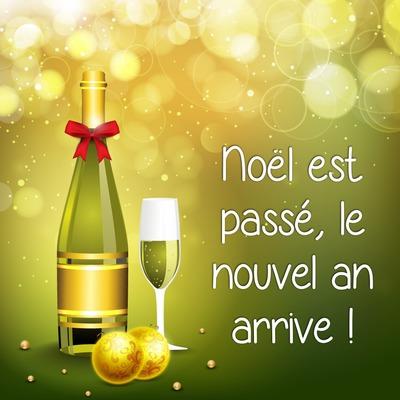 Champagne pour le nouvel an