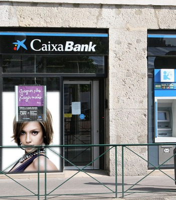 Oglašavanje poster sceni banka