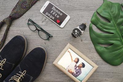 Fête des pères avec photo et texte personnalisable