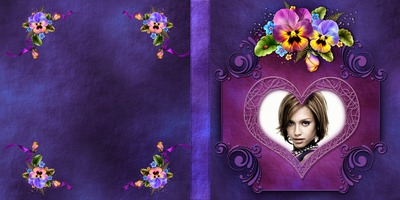 Purple book cover with flowers #1