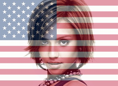 Mukautettava America / American / United States / USA -lippu