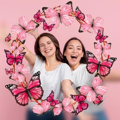 Corona de mariposa