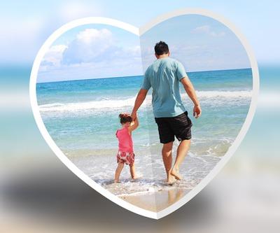 presavijeni srce zamućenje pozadine ili prilagodljiv
