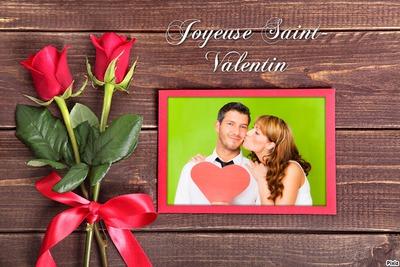 Valentine røde roser med tekst