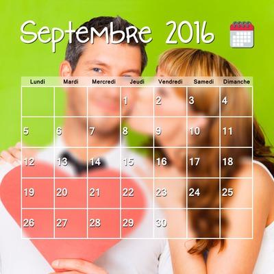 2016 September calendar