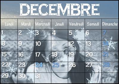 Kalendár december 2014 Snehové vločky