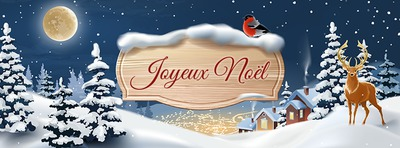 Facebook cover on the theme of winter