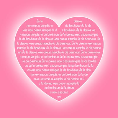 在粉红色的心脏文本