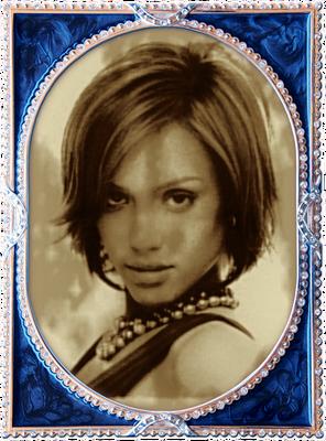 Vecā foto rāmis zils dārgakmens