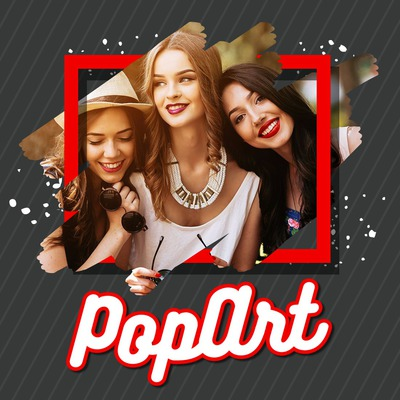 Pop Art with customizable effect