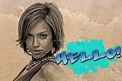 Grafiti sobre una pared