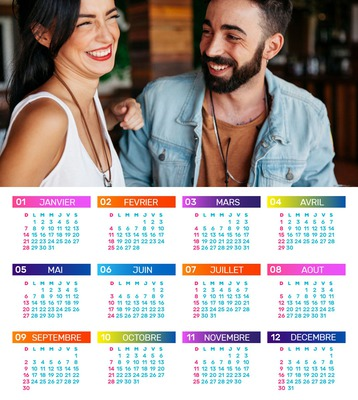 Calendar 2018 na may mga nako-customize na larawan