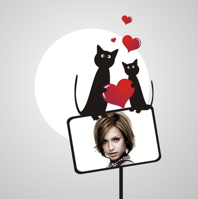 Сърце 2 котки