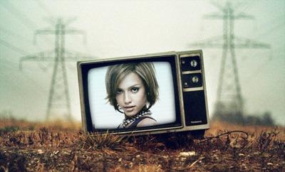 TV sul pavimento
