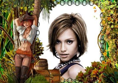 Анимационна жена пират