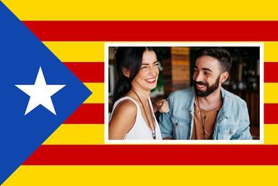 bandeira catalã com imagem personalizada