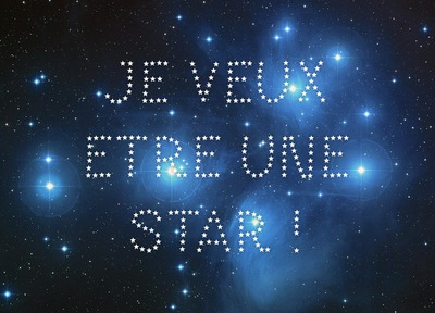 Starry text