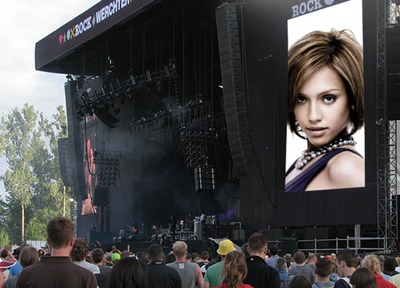 Screen in a concert Scene